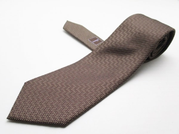 Brioni(ブリオーニ) ネクタイ メンズ美品  ダークブラウン×アイボリー×パープル