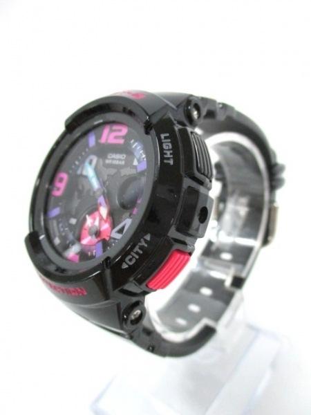 カシオ 腕時計美品  Baby-G BGA-190 レディース ラバーベルト ダークグレー×マルチ