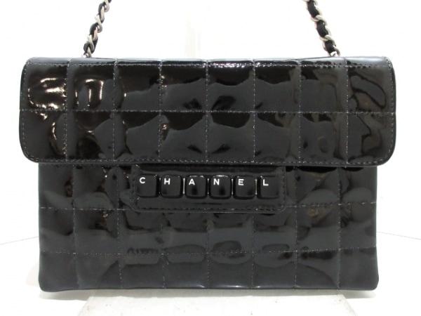 CHANEL(シャネル) ハンドバッグ美品  チョコバー 黒 チェーンショルダー/シルバー金具