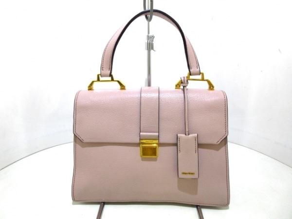 miumiu(ミュウミュウ) ハンドバッグ美品  マドラス ピンク レザー