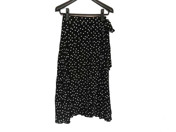 Mila Owen(ミラオーウェン) 巻きスカート サイズ1 S レディース美品  黒×白 ドット柄