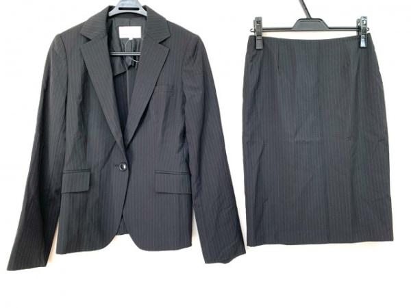 M-PREMIER(エムプルミエ) スカートスーツ サイズ38 M レディース 黒×グレー