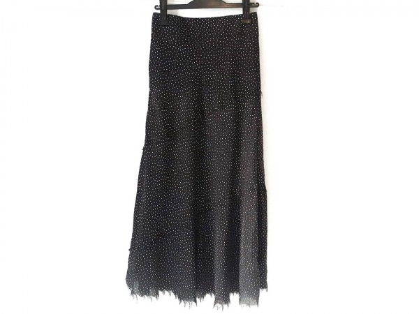 Mila Owen(ミラオーウェン) ロングスカート サイズ0 XS レディース新品同様  黒×白