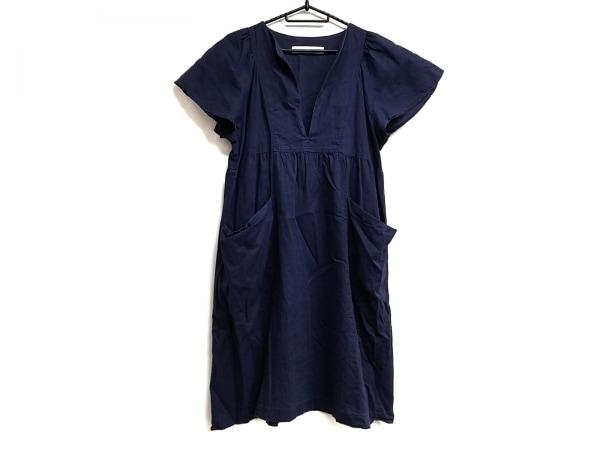 Si-Si-Si(スースースー) ワンピース レディース - - ネイビー その他 襟/半袖/ロング