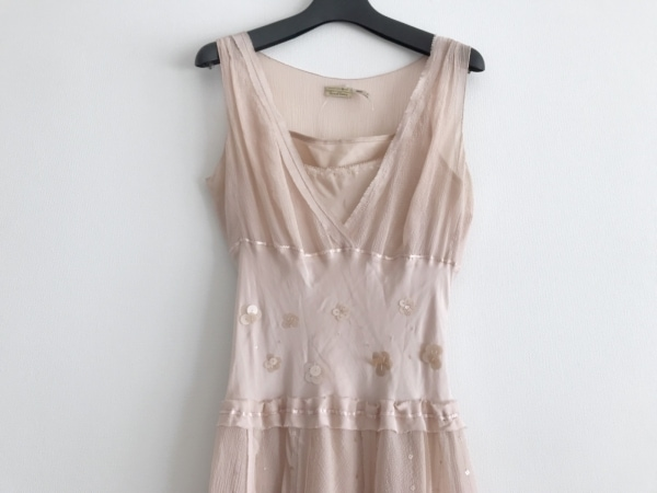 MAXSTUDIO(マックススタジオ) ドレス サイズXS レディース美品  ピンク スパンコール