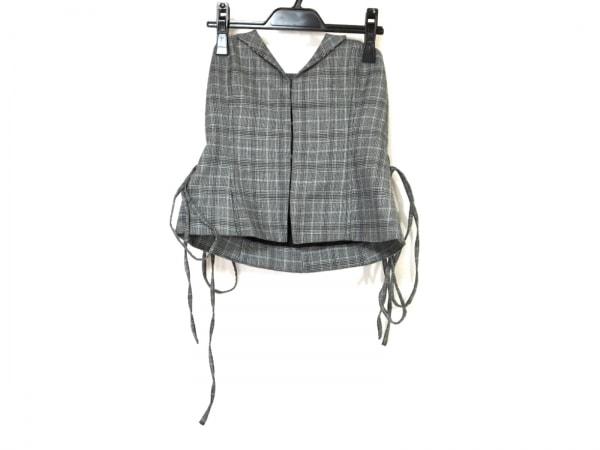 ミラオーウェン スカート サイズ0 XS レディース美品  グレー×黒 チェック柄