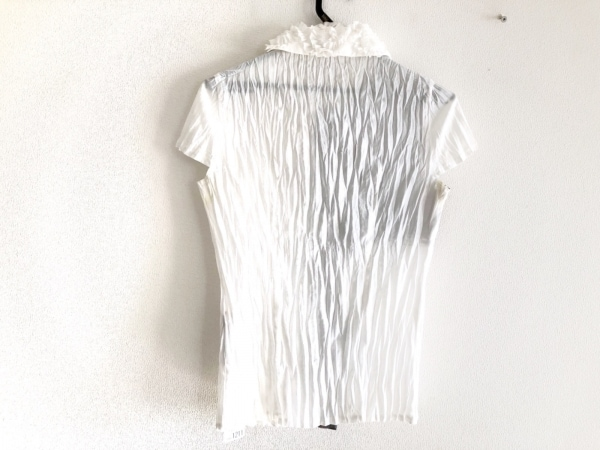 NOKO OHNO(ノコオーノ) 半袖カットソー サイズ38 M レディース 白×グレー