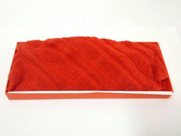 HERMES(エルメス) 小物美品  オレンジ ハンドタオル コットン