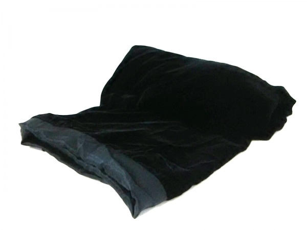 DONNAKARAN(ダナキャラン) ストール(ショール)新品同様  黒 ベロア シルク×レーヨン