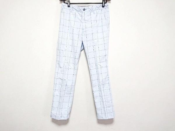キャロウェイ パンツ サイズM レディース美品  ライトブルー×黒×白 チェック柄
