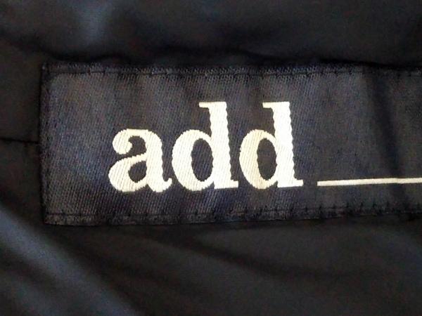 add(アッド・エーディーディー) ダウンコート サイズ44 L レディース 黒 冬物