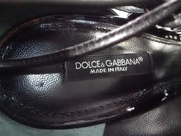 DOLCE&GABBANA(ドルチェアンドガッバーナ) パンプス 37 レディース 黒 オープントゥ