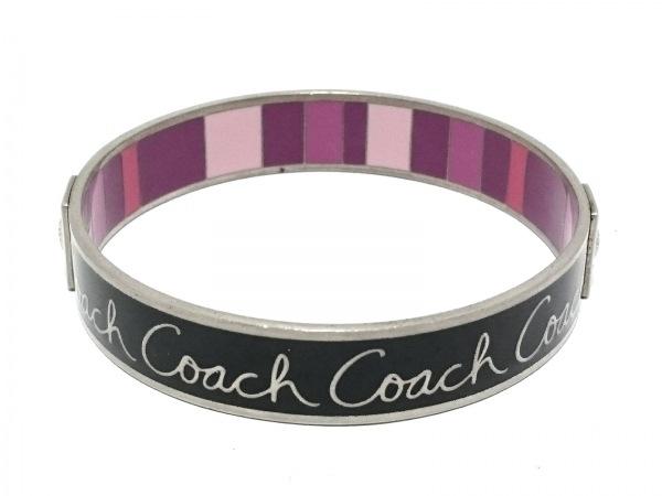 COACH(コーチ) バングル 金属素材 黒×マルチ