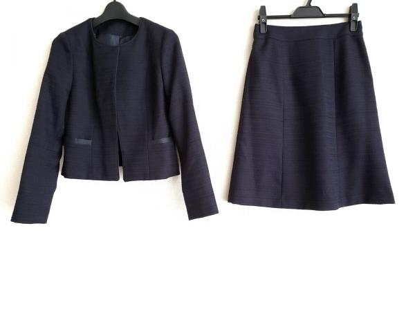Tiaclasse(ティアクラッセ) スカートスーツ サイズ7AR S レディース 黒×ネイビー