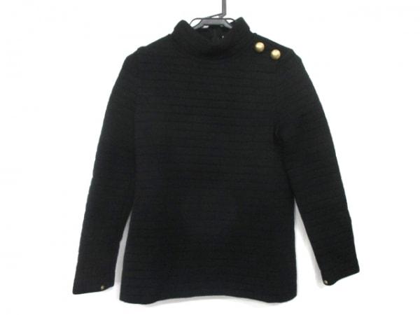 エポカ 長袖カットソー サイズ40 M レディース 黒 袖口ファー(着脱可)/ハイネック