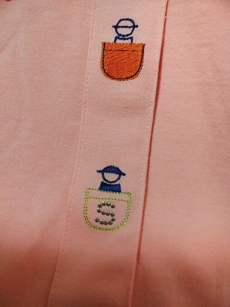 PICONE(ピッコーネ) 半袖シャツブラウス サイズ38 S レディース - ピンク×マルチ