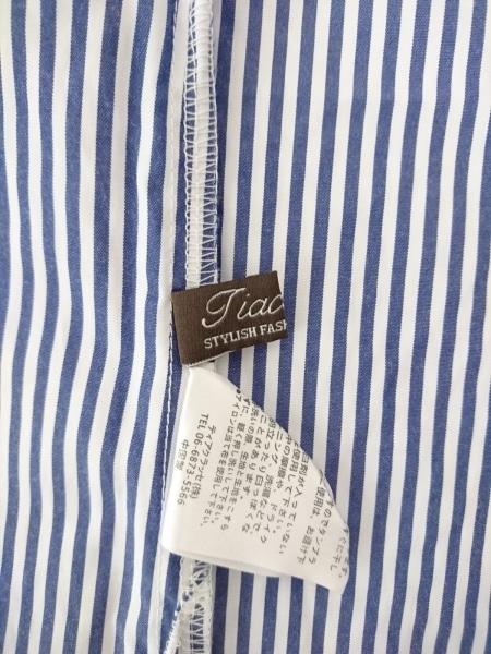 Tiaclasse(ティアクラッセ) 七分袖カットソー サイズL レディース ネイビー×白