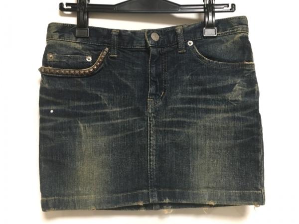 HYSTERIC GLAMOUR(ヒステリックグラマー) ミニスカート サイズXS レディース ネイビー