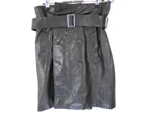 ゴルチエ スカート サイズ40 M レディース美品  黒 レザー/GAULTIER2