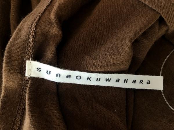 sunao kuwahara(スナオクワハラ) ワンピース サイズM レディース美品  ダークブラウン