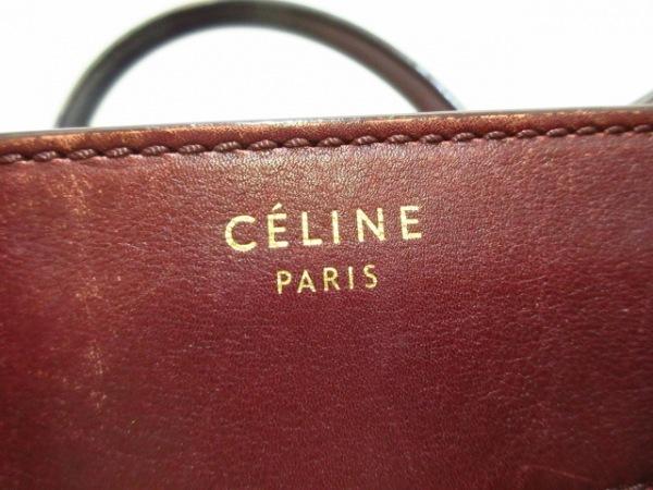 CELINE(セリーヌ) ハンドバッグ ラゲージスモールスクエアファントム ボルドー レザー