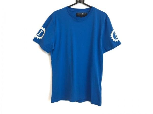 HYDROGEN(ハイドロゲン) 半袖Tシャツ サイズS メンズ美品  ライトブルー×マルチ