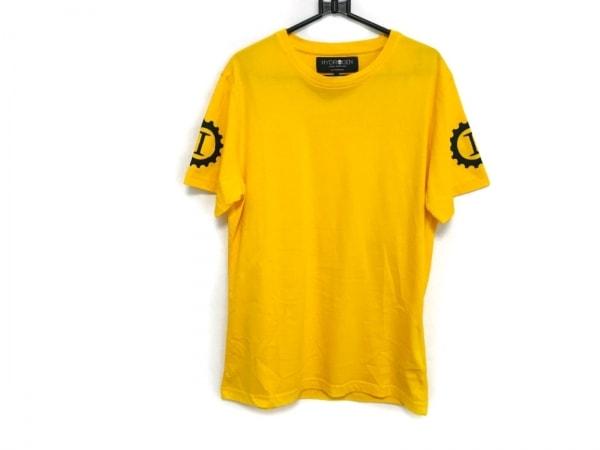 HYDROGEN(ハイドロゲン) 半袖Tシャツ サイズS メンズ美品  イエロー×マルチ