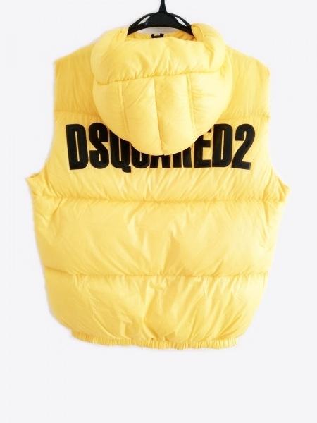 DSQUARED2(ディースクエアード) ダウンベスト サイズ48 M メンズ イエロー×黒 冬物