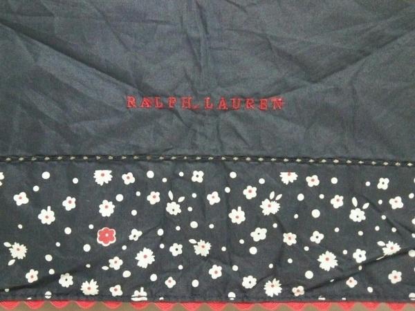 ラルフローレン 折りたたみ傘美品  ネイビー×白×レッド 化学繊維 4