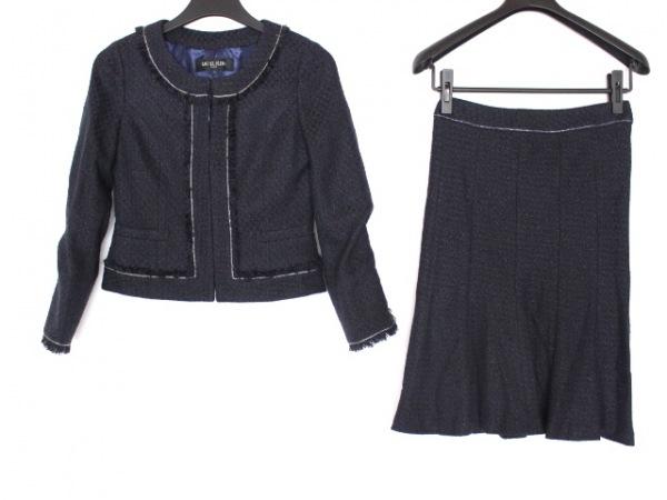 ミッシェルクラン スカートスーツ サイズ40 M レディース美品  ダークネイビー