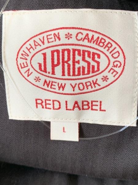 J.PRESS(ジェイプレス) コート サイズL メンズ ダークネイビー×黒×アイボリー