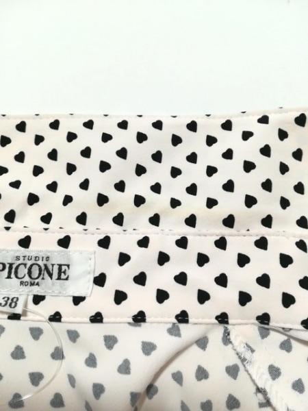 PICONE(ピッコーネ) ワンピース サイズ38 S レディース ピンク×黒 ハート/フリル