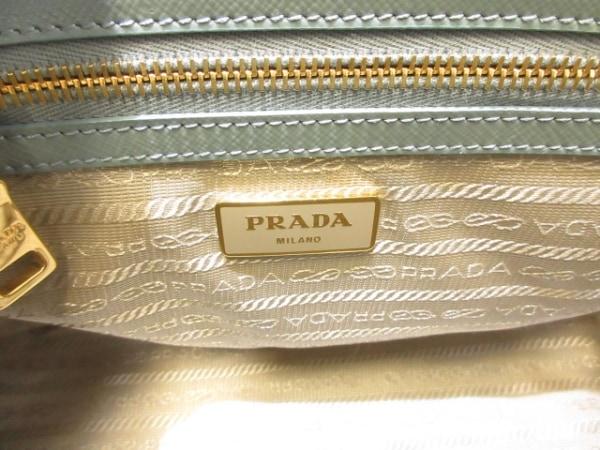 PRADA(プラダ) トートバッグ - BN2316 ライトブルー サフィアーノヴェルニ(レザー)