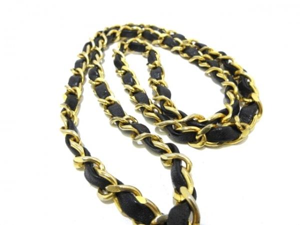 シャネル ショルダーバッグ ミニマトラッセ 黒 チェーンショルダー/ゴールド金具