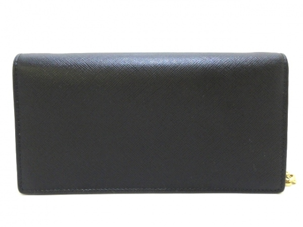 PRADA(プラダ) 財布美品  - 1DH044 黒 ショルダーウォレット レザー