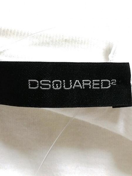 ディースクエアード 半袖Tシャツ サイズXS レディース アイボリー×マルチ ガールズ