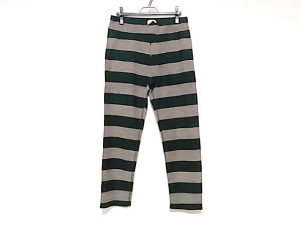 chimala(チマラ) パンツ サイズM メンズ グレージュ×ダークグリーン ボーダー