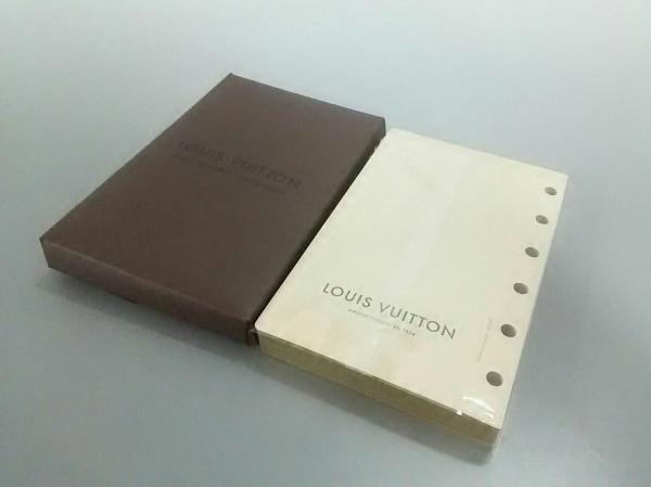 ルイヴィトン 小物美品  ノートレフィル(PM用) R05353 白×ベージュ 紙