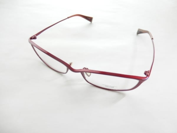 OLIVER PEOPLES(オリバーピープルズ) メガネ クリア×レッド プラスチック×金属素材