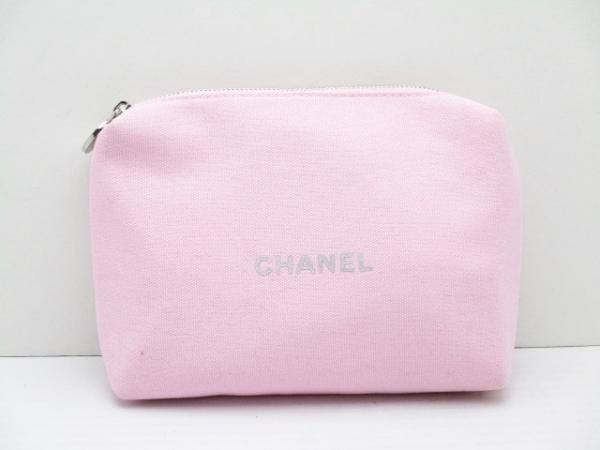 CHANEL PARFUMS(シャネルパフューム) ポーチ美品  - ピンク キャンバス
