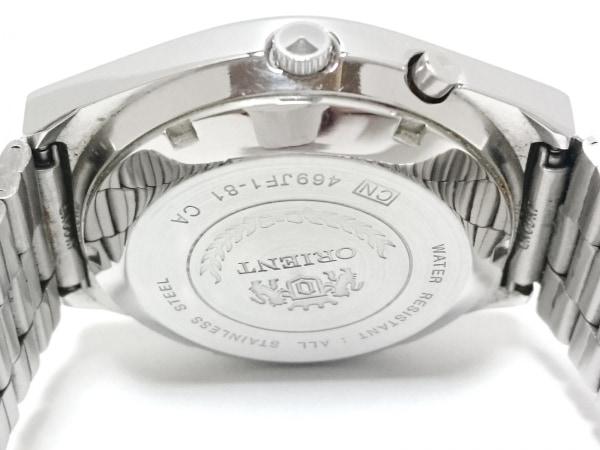 オリエント 腕時計 スリースター 469JF1-81 レディース Crystal 21JEWELS 白×カーキ