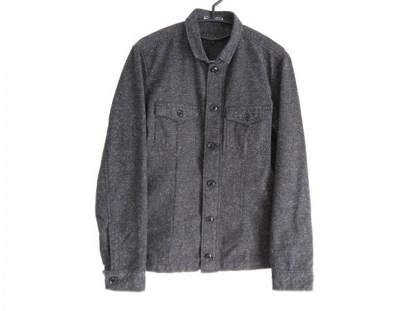 monsieur NICOLE(ムッシュニコル) ジャケット サイズ48 XL メンズ 黒×白