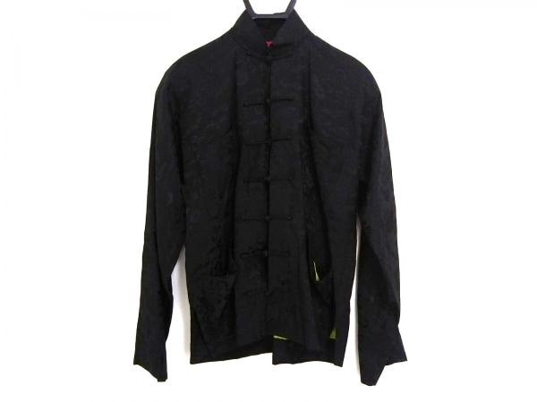 Shanghai Tang(シャンハイタン) ジャケット レディース 黒 シルク