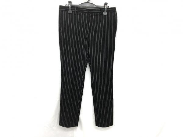 Lisiere(リジェール) パンツ サイズ40 M レディース 黒×白 ストライプ