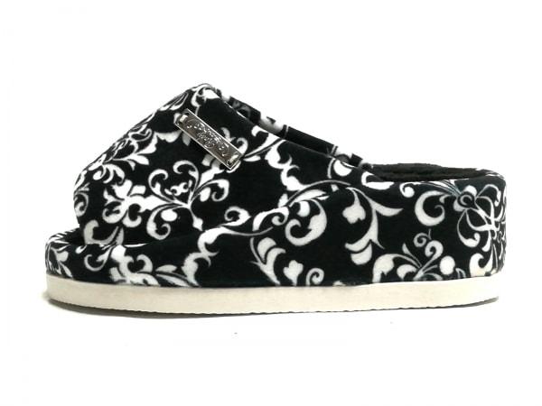 Rady(レディ) 靴 レディース美品  黒×白 スリッパ ポリエステル