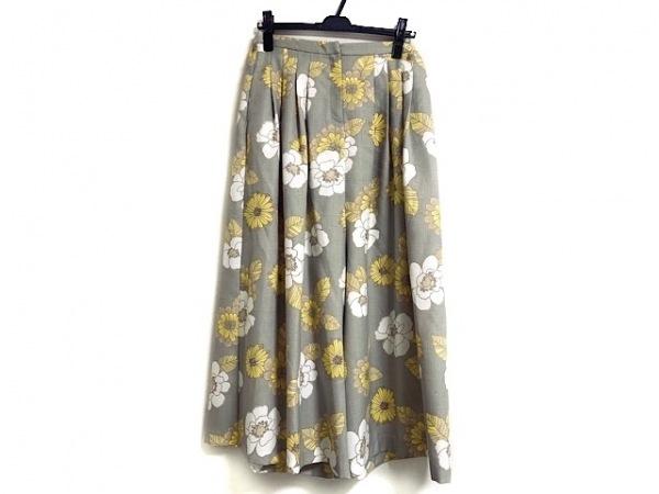 BEARDSLEY(ビアズリー) パンツ サイズF レディース グレー×イエロー×白 花柄
