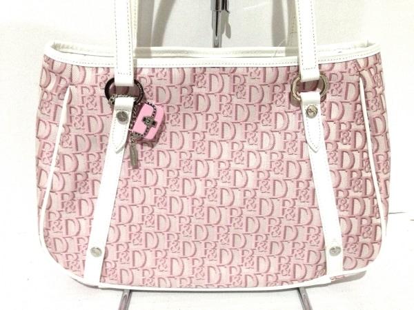 Pinky&Dianne(ピンキー&ダイアン) ショルダーバッグ ピンク×白 ジャガード×合皮