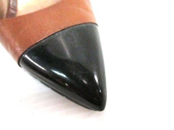 サカグチコウシ ブレイズ パンプス 36 1/2 レディース ブラウン×黒