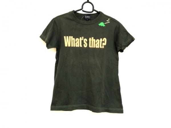 パーリーゲイツ 半袖Tシャツ サイズ0 XS レディース ダークグリーン×オレンジ