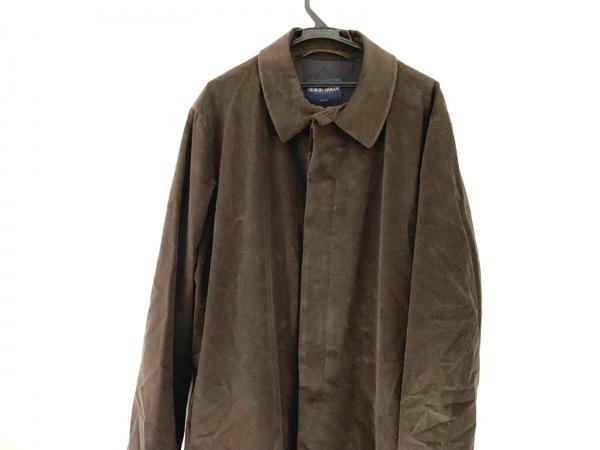 ジョルジオアルマーニクラシコ コート サイズ52 メンズ美品  ダークブラウン